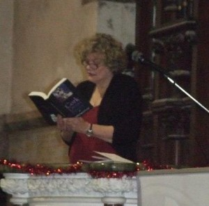 Sandra Ann Winters reads at St. Luke's Church, St. Luke's Cross, Cork City